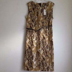 NWT Snake Print Dress with built in belt
